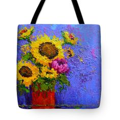 "Surrounded by Joy Tote Bag 18"" x 18"" by Patricia Awapara"