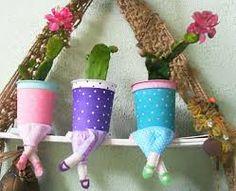 Resultado de imagem para vasos originais para plantas reciclando