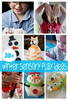 Brrrr...Over 30 frosty, frozen and fun WINTER SENSORY PLAY IDEAS for kids.