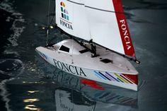 Micro Magic aux couleurs de l'open 60 FONCIA Radios, Rc Model, Courses, Yachts, Boat, Vehicles, Colors, Dinghy, Boats