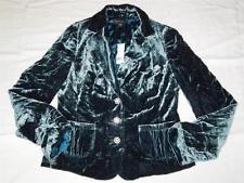 New Women's Banana Republic Dark Teal Velvet Jacket Size 8 - NWT ($178)