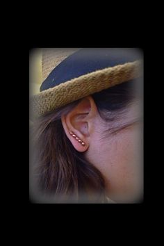Copper Earring PinEar WireCopper studslong studsbeaded by Pulso