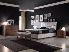 Camera con pareti scure