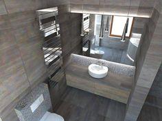 Pracownia Symetria_ Nowoczesna łazienka