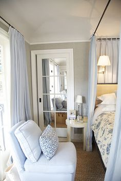 Mark D. Sikes - A mirrored door between bed and bath or closet is marvelous!