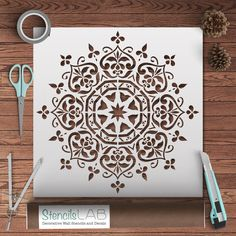 Mandala Style Stencil - Floral Motive Wall Stencil - Original And ...