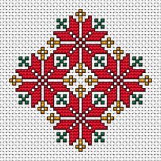 Red Ornament cross stitch pattern