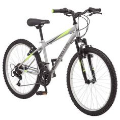 Roadmaster Granite Peak Boy's Mountain Bike Bicycle Outdoor Ride Silver New Boys Mountain Bike, Mountain Biking, Mountain Style, Tire Tread, Road Bike Women, Bicycle Maintenance, Cool Bike Accessories, Bike Seat, Ride On Toys