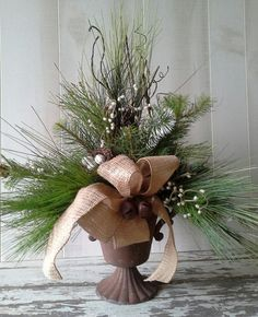 Your place to buy and sell all things handmade Christmas Floral Designs, Christmas Floral Arrangements, Christmas Flowers, Silver Christmas, Christmas Centerpieces, Flower Arrangements, Christmas Holidays, Christmas Wreaths, Christmas Decorations