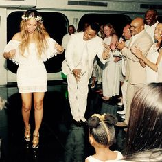 Beyoncé and Blue Ivy hit the dance floor at Tina Knowles's wedding.  See all the sweet snaps that Beyoncé shared from the event!