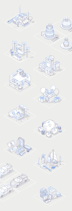Icons/ Illustrations on Behance Isometric Shapes, Isometric Design, David Carson, Line Design, Icon Design, Flat Design, Design Design, Design Brochure, Japanese Graphic Design
