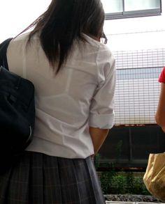 【盗撮画像】JKの透けブラや透け乳首がエロ過ぎワロタ 40枚 No.29