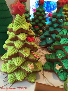 Купить Пряничная Ёлка 3D - разноцветный, елка, новогодний подарок, новогодняя…