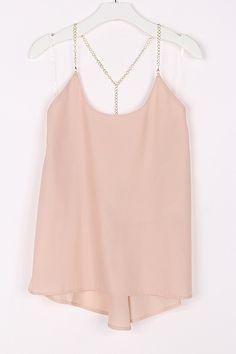 Silk tank in blush <3