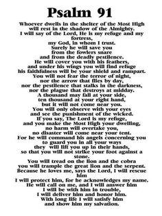 psalm 91 prayer * psalm 91 prayer - psalm 91 prayer scriptures - psalm 91 prayer faith - psalm 91 prayer secret places - psalm 91 prayer kjv - psalm 91 prayer of protection - psalm 91 prayer bible verses - psalm 91 prayer catholic Psalm 91 Prayer, Bible Psalms, Faith Prayer, God Prayer, Prayer Cards, Serenity Prayer, Psalm 91 Niv, Prayer For Peace, Prayer For Enemies