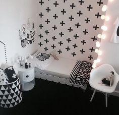 black and white kids room #onehundredpercentheart by #kiwienkoala