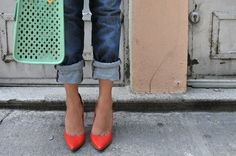 Bf jeans and Stunning Shoes... street style chic
