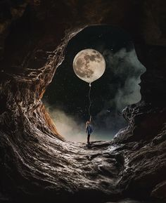 Female Artist Creates Stunning Dark Photo Manipulations is part of Beautiful moon - Today I want to share with you amazing photo manipulations by artist Natacha aka closer They're slightly dark but perfectly done And they will surely… Moon Images, Moon Photos, Moon Moon, Moon Art, Moon Photography, Street Photography, Moonlight Photography, Photography Photos, Wedding Photography