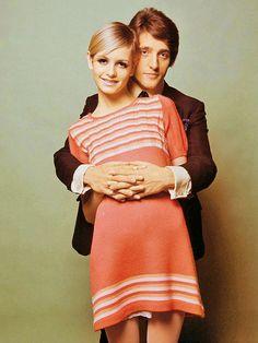 Twiggy and her then boyfriend/manager Justin de Villeneuve in 1966