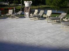 stamped concrete patios | White and Gray Ashler