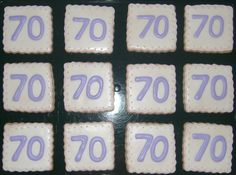 """70"" birthday cookies"