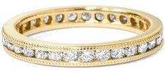 Pompeii3 1ct Channel Set Diamond Eternity Ring 14k Yellow Gold.