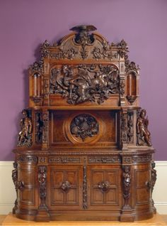 Sideboard, c. 1855, attributed to Joseph Alexis Bailly (American, 1825-1883). From the Cleveland Museum of Art