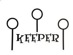 Harry Potter Keeper Vinyl Decal (Black) - Quidditch, Birthday Party Decor, Bumper Sticker, Car Decal, Vinyl Decor, Computer Sticker
