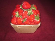 Metlox Strawberry Basket Cookie Jar