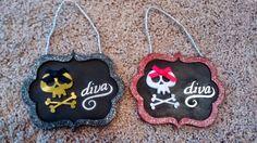 diva with skull door signs