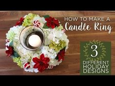 DIY Candle Ring Centerpiece | Hydrangea Candle Ring | Afloral.com