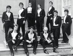 The class of '87: Buller men David Cameron (back, second left) and Boris Johnson (front right)