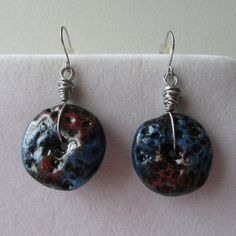 Made of Fimo, painted with acrylic paints, varnished. Length measured with hook, circle diameter Drop Earrings, Painting, Jewelry, Fimo, Jewlery, Bijoux, Painting Art, Schmuck