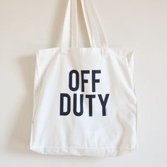 Off duty canvas tote