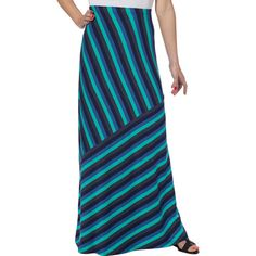 Matty M Ladies' Long Skirt-Blue Stripe - Costco has some cute maxi skirts right now at great prices with a variety of colors to choose from, this is the one that I picked.