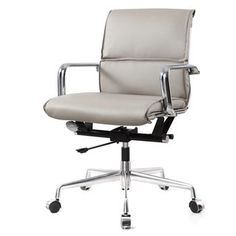 grey leather desk chair - Grey Leather Desk Chair - organization Ideas for Small Desk, marquis gold gray leather modern office chair eurway Best Office Chair, Executive Office Chairs, Home Office Chairs, Office Desks, Office Spaces, Modern Chairs, Modern Furniture, Office Furniture, Modern Desk