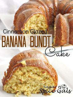 Cinnamon Glazed Banana Bundt Cake on MyRecipeMagic.com