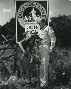 Clyde Porter gives his dog Junior to Dogs for Defense. Most of the United States' 20,000 war dogs were volunteered for service by their owners.  The National WWII Museum | New Orleans: Collections: Focus On: Loyal Forces