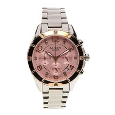 Casio Women's Sheen SHE5021SG-4A Silver Stainless-Steel Quartz Watch with Pink Dial -- Visit the image link more details.