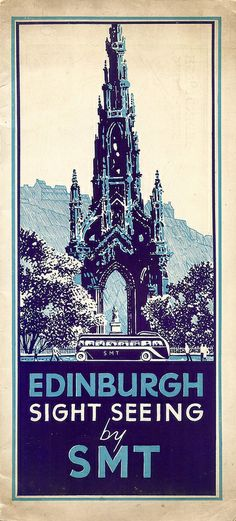 Scottish Motor Traction - Edinburgh sight seeing by SMT, brochure, c1935
