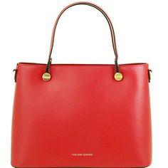 Tuscany Leather Atena  Ruga leather tote  TL141522 (Red) https://bestcarryonluggagereview.info/tuscany-leather-atena-ruga-leather-tote-tl141522-red/