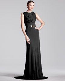 Elie Saab Sleeveless Jersey Gown
