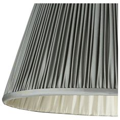 Silver Lamp Shades Inspiration 56Cm Pleated Silk Taffeta Empire Lampshade  Silver Lamp Lampshades Decorating Inspiration