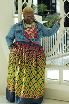 African print maxi skirt available in plus sizes too!
