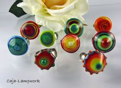 Wechselring Top's; made by Caja-Lampwork