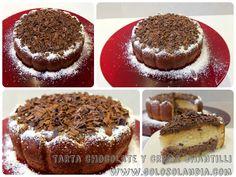 Tarta de chocolate y crema chantilli fácil receta paso a paso   http://www.golosolandia.com/2014/10/tarta-de-chocolate-y-crema-chantilli.html