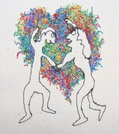 Paul Nosa - Making Art Together - machine embroidery