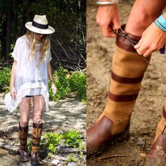 Who else loves this festival inspired look by @monellevermont with Dubarry Galway Boots in brown? @officiallatitudefest @longitudefest #longitude2015  Credit: @chelsearevella @olliefisch #DubarryBoots #LiveLoveDubarry