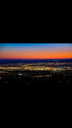Albuquerque city lights.....we watch the 4th of July...with this beautiful site also.