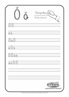Kaligrafia dla dzieci - Ćwiczenia kaligraficzne / Litera Ó. Nauka pisania litery Ó Dom, Full Bed Loft, Cuba